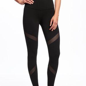 Old Navy Athletic leggings with mesh detail black